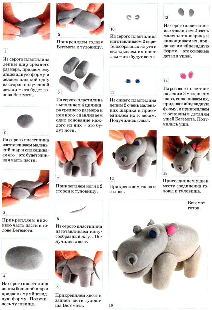 Пошаговые мастер классы и инструкции как лепить из пластилина животных